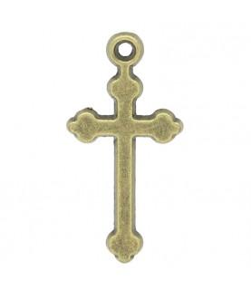 Colgante cruz de 3 cm en bronce