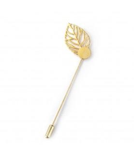 Comprar Alfiler con hoja en color dorado de Conideade