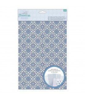 Comprar Pack A4 de papel Vellum y hojas troquladas Moroccan Blue de Conideade