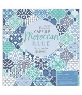 Comprar Pack 32 hojas scrap Moroccan Blue 12x12 de Conideade