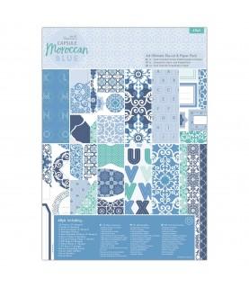 Comprar Pack completo de troquelado y papel A4 Moroccan Blue de Conideade