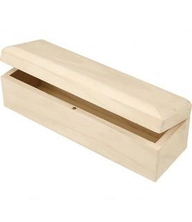 Caja alargada de madera