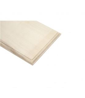 Placa de madera portanombres