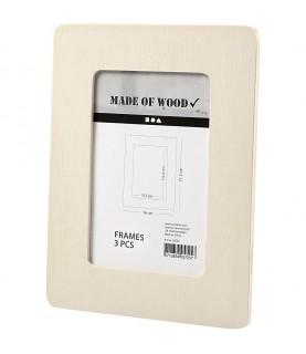 Comprar Set de 3 marcos de madera de 16cm x 21,5 cm de Conideade