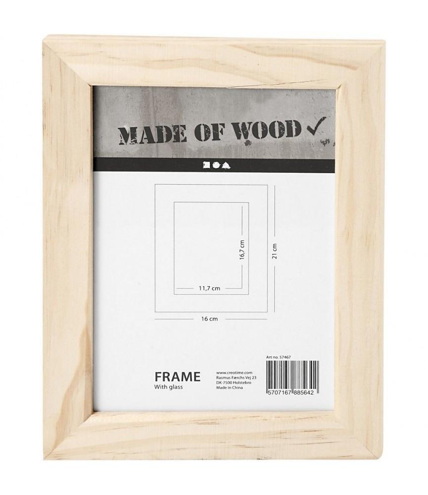 Marco de fotos de madera 16 x 21 cm