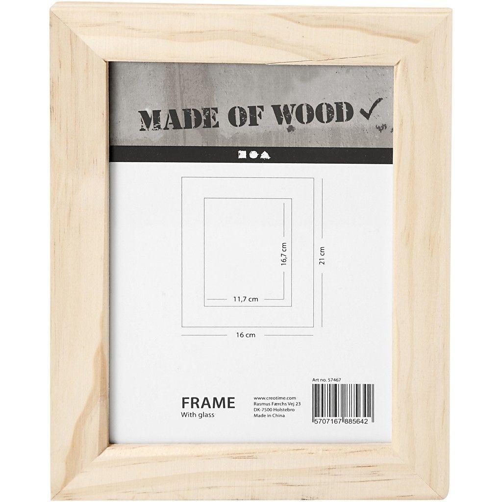 Marco de fotos de madera 16 x 21 cm, para decorar al gusto