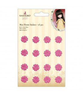 Pack 16 mini flores adhesivas gorjuss