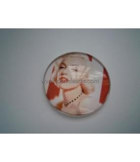 Cabuchon cristal Marilyn Monroe 30 mm