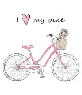 """Papel sublimación 30x30cm """"I love my bike"""""""
