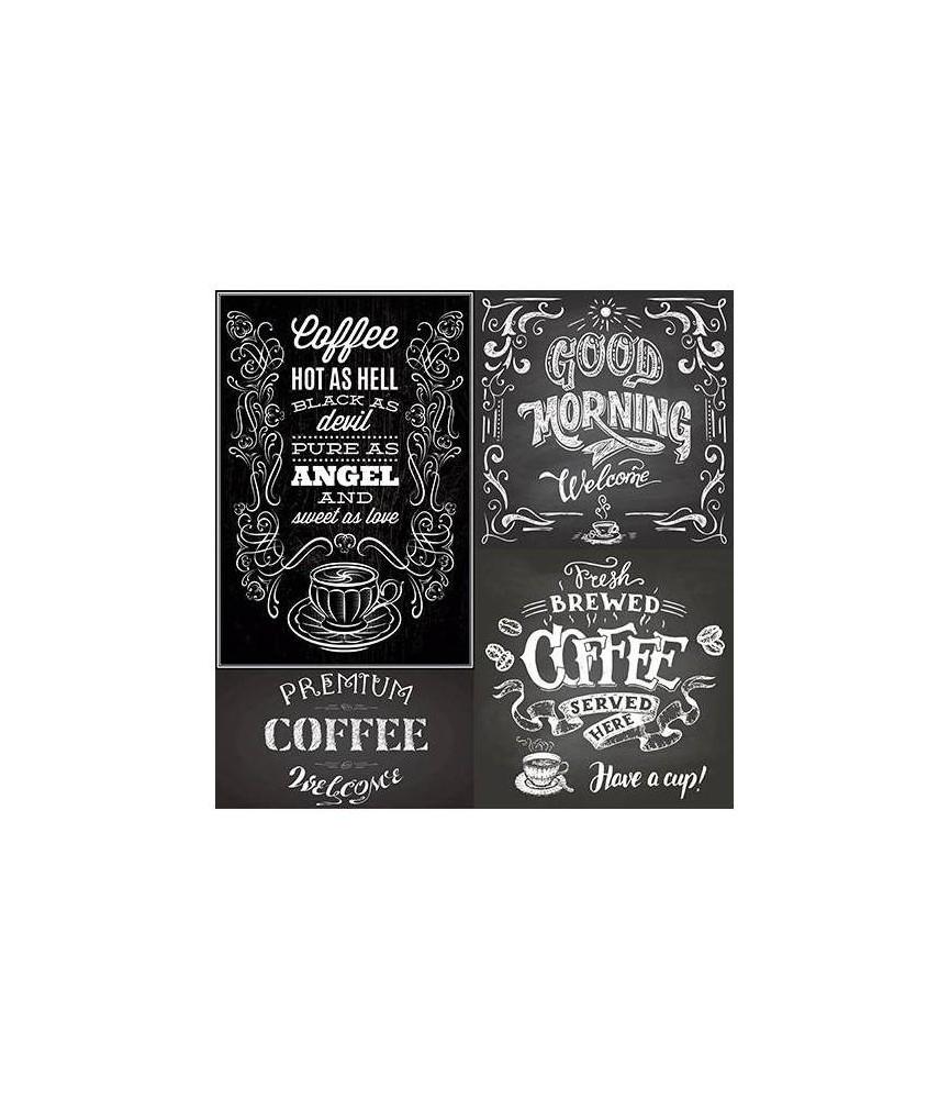 """Papel sublimación 30x30cm """"chalk coffe"""""""