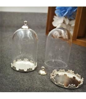 Comprar Set base de camafeo con media esfera 38x25mm plata de Conideade