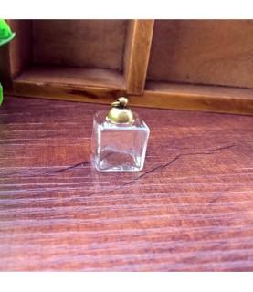 Set de colgante de tarro cuadrado de cristal bronce