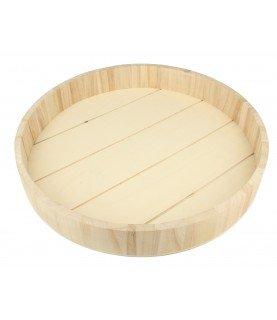 Bandeja de madera redonda 36 x 5 cm