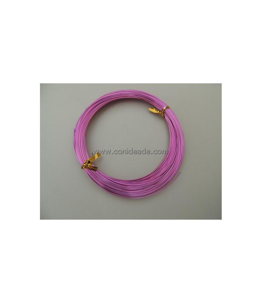 Alambre de aluminio rosa 1mm