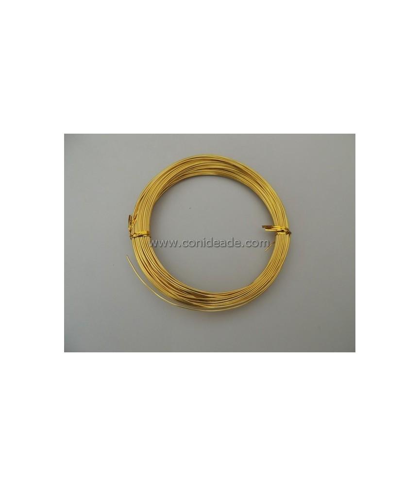 Alambre de aluminio dorado 1mm