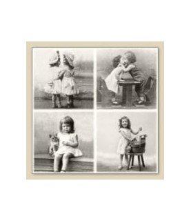 Pack 10 servilletas vintage niños