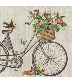 Comprar Servilleta bicicleta con pajarito 33cm x33cm