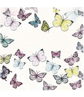 Imagén: Servilleta mariposas de colores 33cm x33cm