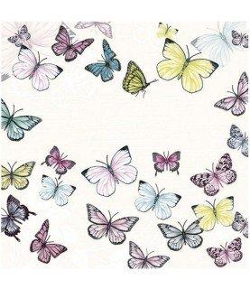 Comprar Servilleta mariposas de colores 33cm x33cm