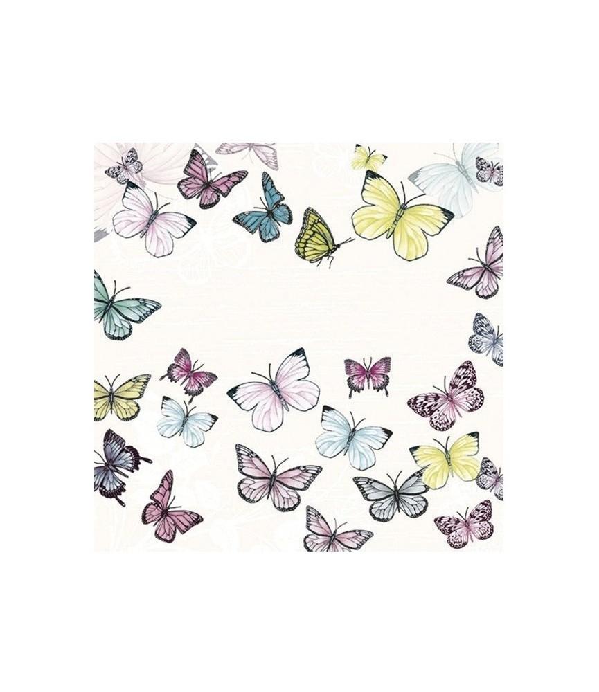 Servilleta mariposas de colores 33cm x33cm