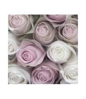 Servilleta vintage mixed roses 33 x 33cm
