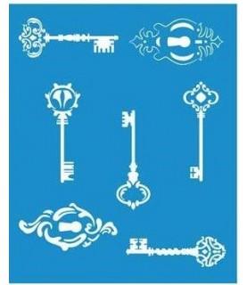 Comprar Plantilla stencil 21 x 17 cm llaves de Conideade