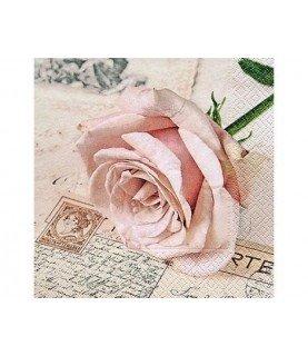 Comprar Servilleta postcard rose 33x33 cm de Conideade