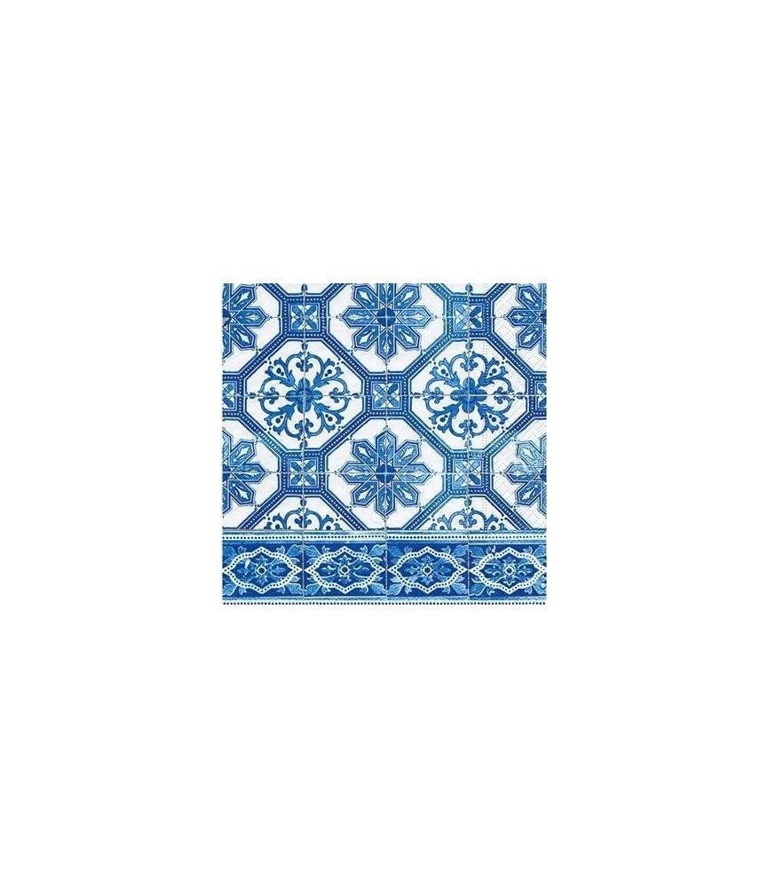 Servilleta mosaico azul 33cm x33cm