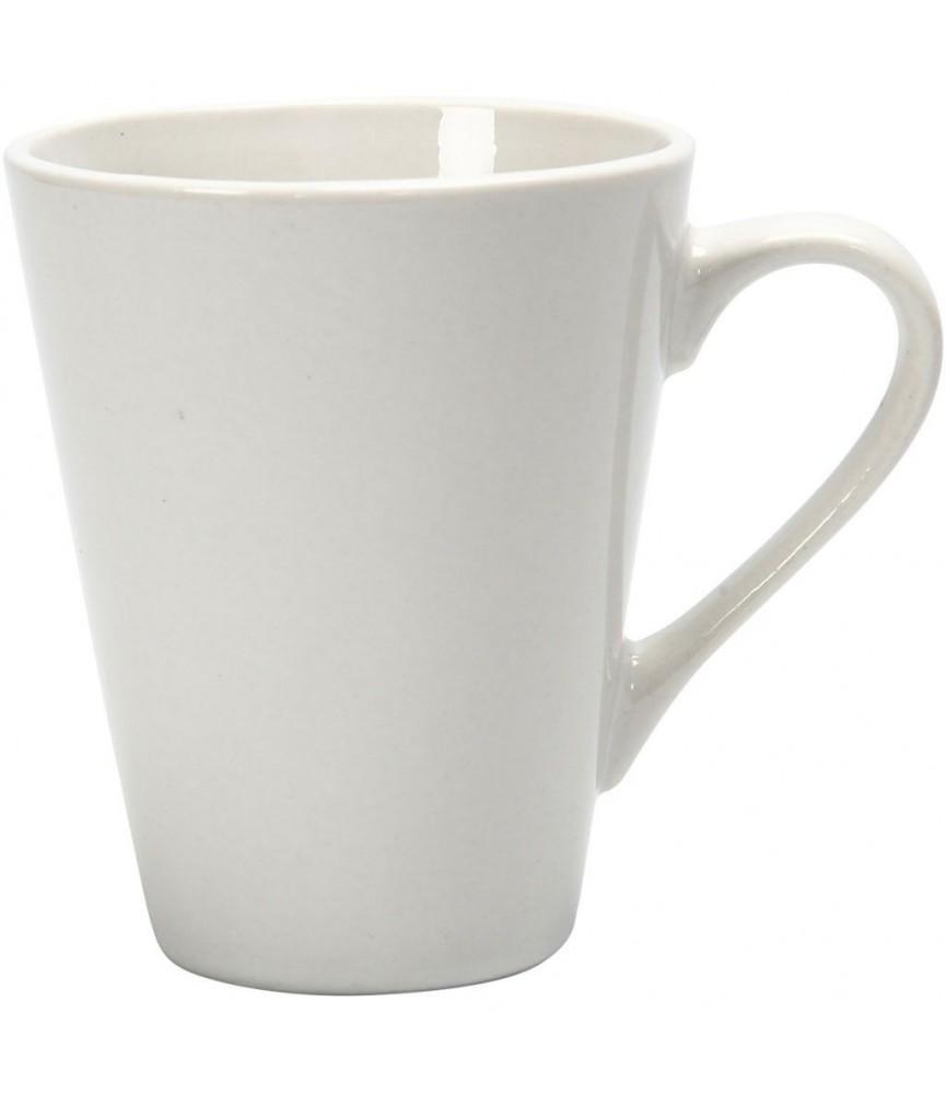 Taza de ceramica blanca 10 cm
