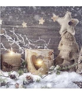 Imagén: Servilleta navidad elementos naturales