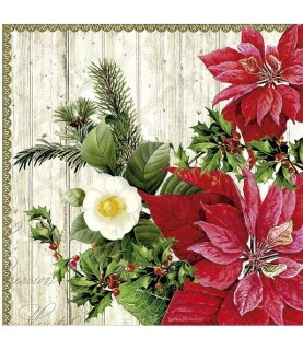 Imagén: Servilleta para decoupage flor de pascua