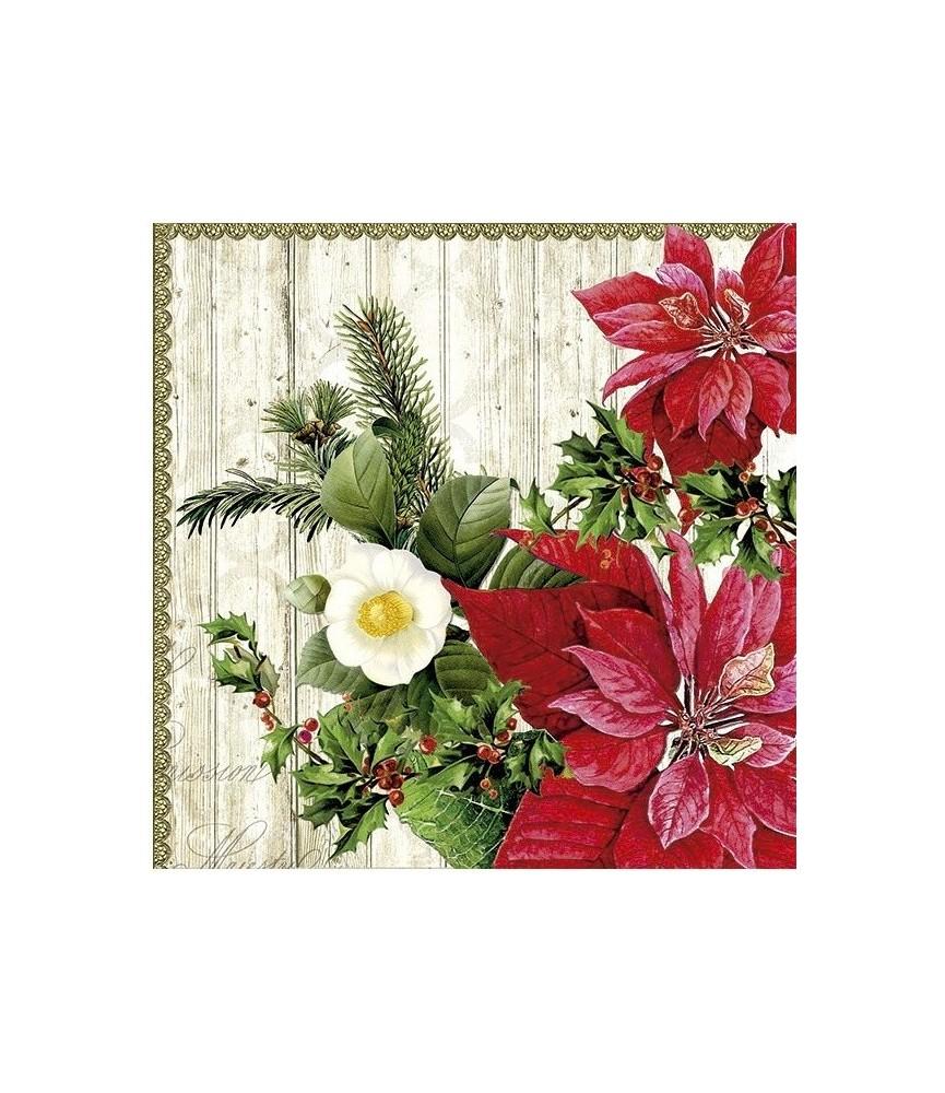 Servilleta de navidad flor