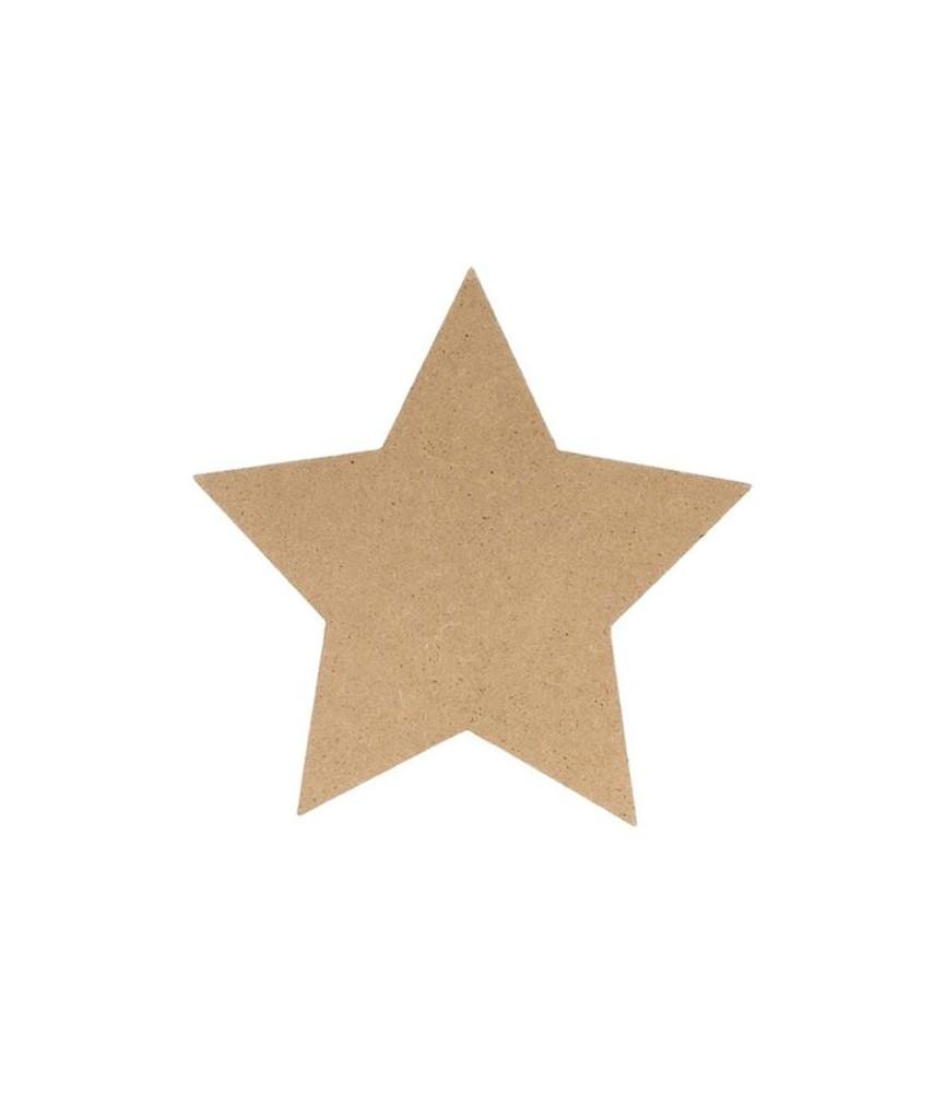 Silueta de madera estrella 15 cm