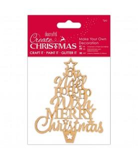 Comprar Silueta de madera árbol feliz navidad de Conideade