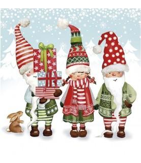 Imagén: Servilleta de navidad duendes