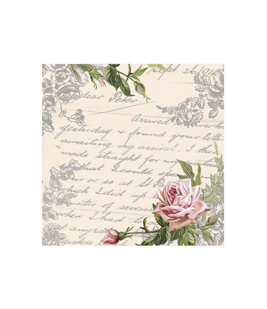 Servilleta letras y rosas
