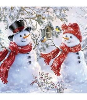 Comprar Servilleta muñecos de nieve de navidad de Conideade