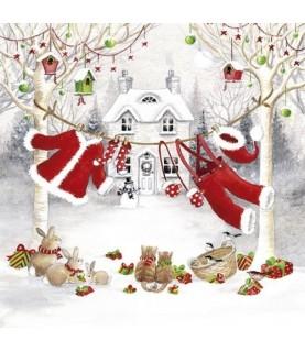 Comprar Servilleta ropa tendida de navidad de Conideade