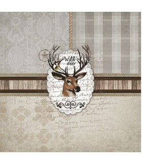 Imagén: Servilleta para decoupage ciervo
