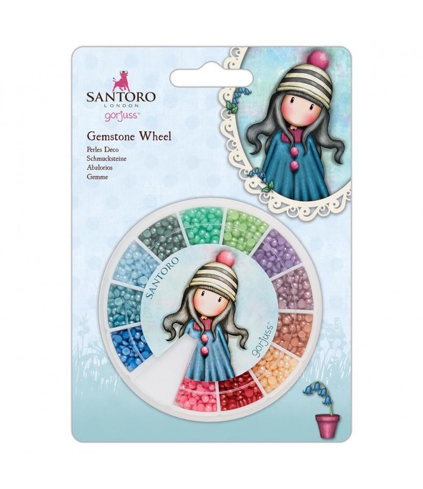 Ruedas de mini perlas en 12 colores de Gorjuss