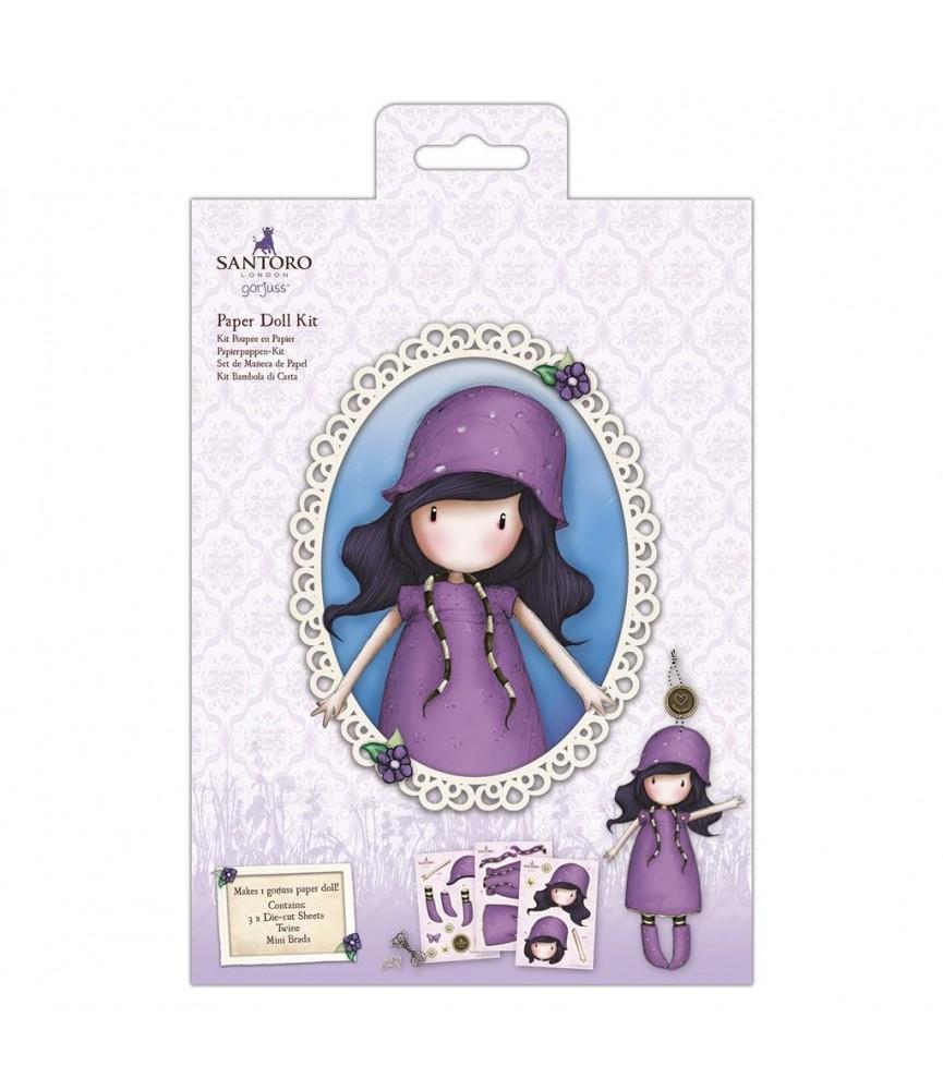 Set de muñeca de papel lila