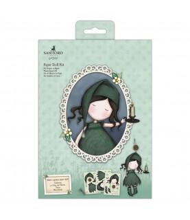 Imagén: Set de muñeca de papel verde