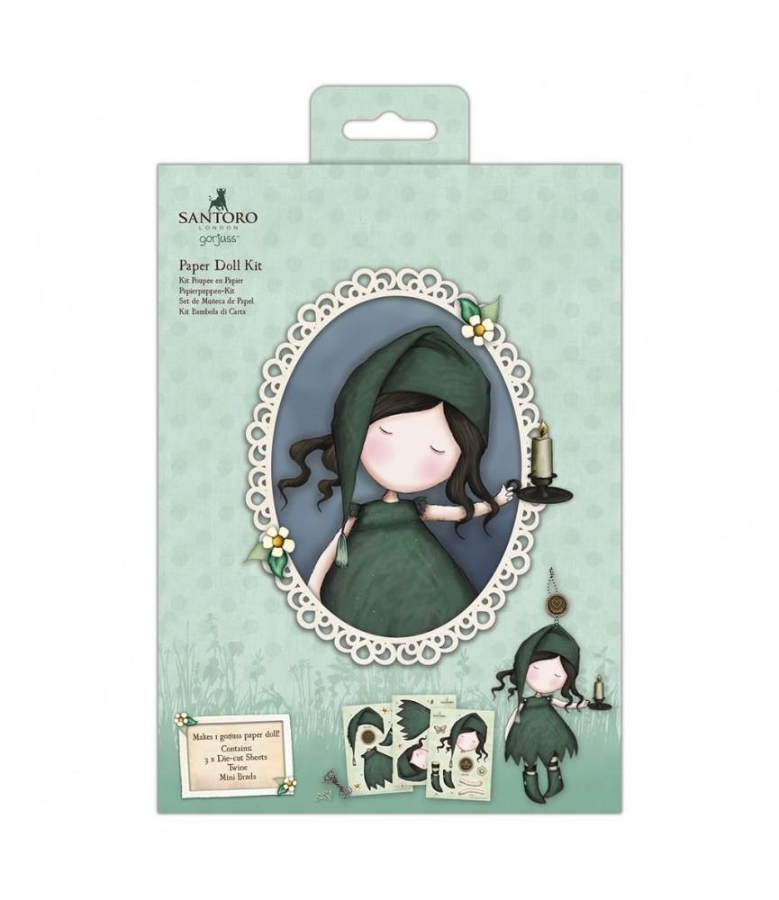 Set de muñeca de papel verde