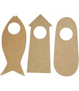 Pack de 6 cuelgapuertas de formas