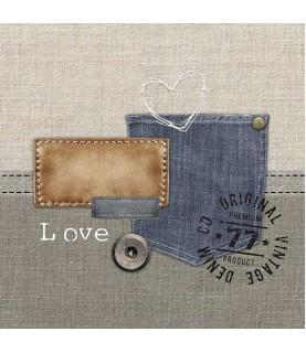 Servilleta para decoupage bolsillos jeans