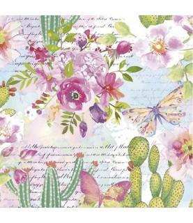 Imagén: Servilleta para decoupage cactus de colores