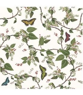 Imagén: Servilleta para decoupage hojas y mariposas