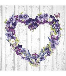 Comprar Servilleta para decoupage corazón de flores de Conideade