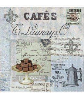 Comprar Servilleta para decoupage cafe collage de Conideade
