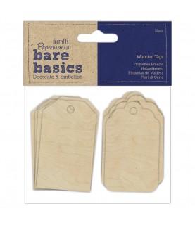 Pack 12 etiquetas de madera